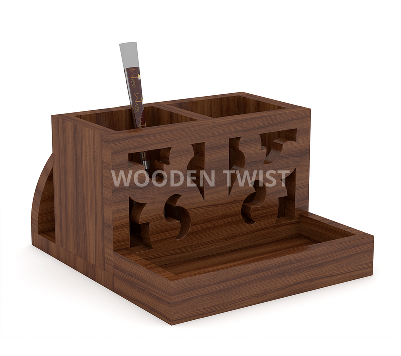 wooden cutlery holder