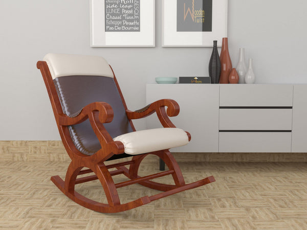 Qualis Premium Sheesham Wood Rocking Chair