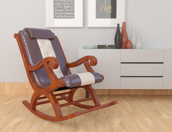 Roskosh Premium Sheesham Wood Rocking Chair
