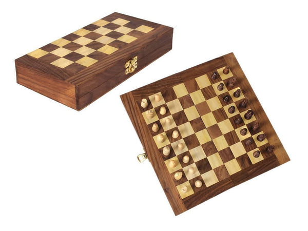 Wooden Handmade Folding Chess Board