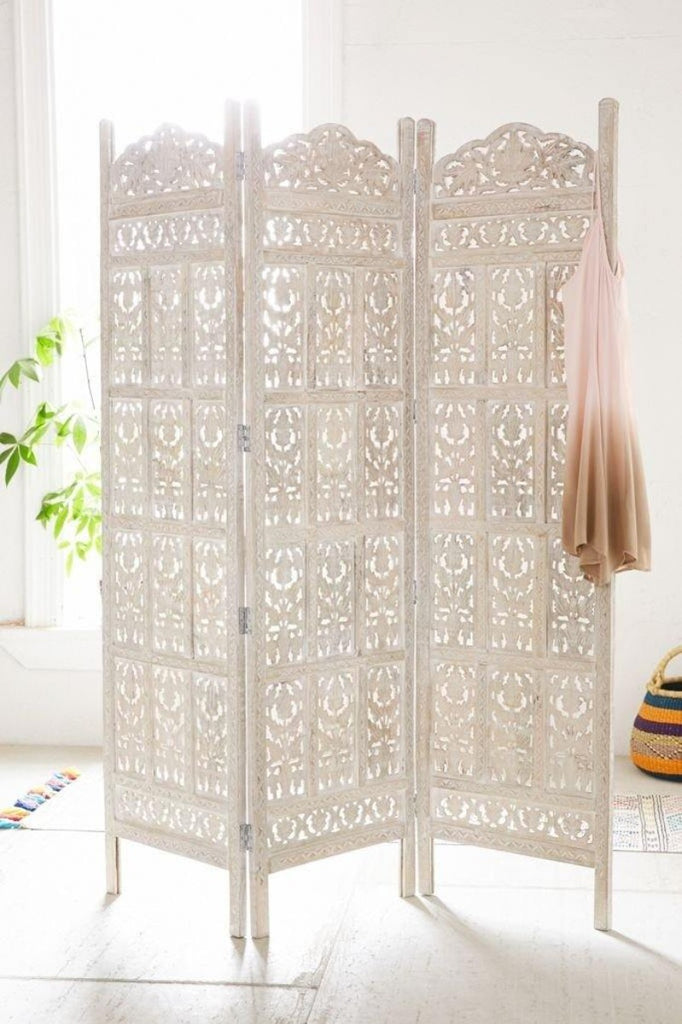 antique wooden room divider