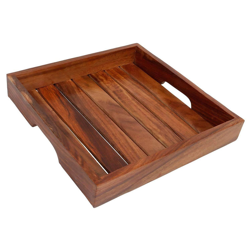 Premium Wooden Handmade Serving Tray/Table Décor Brown