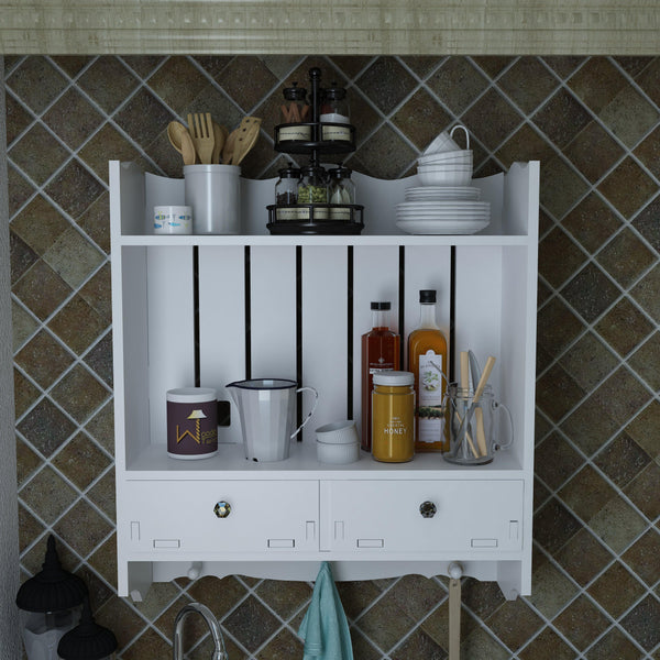 wooden kitchen rack shelf