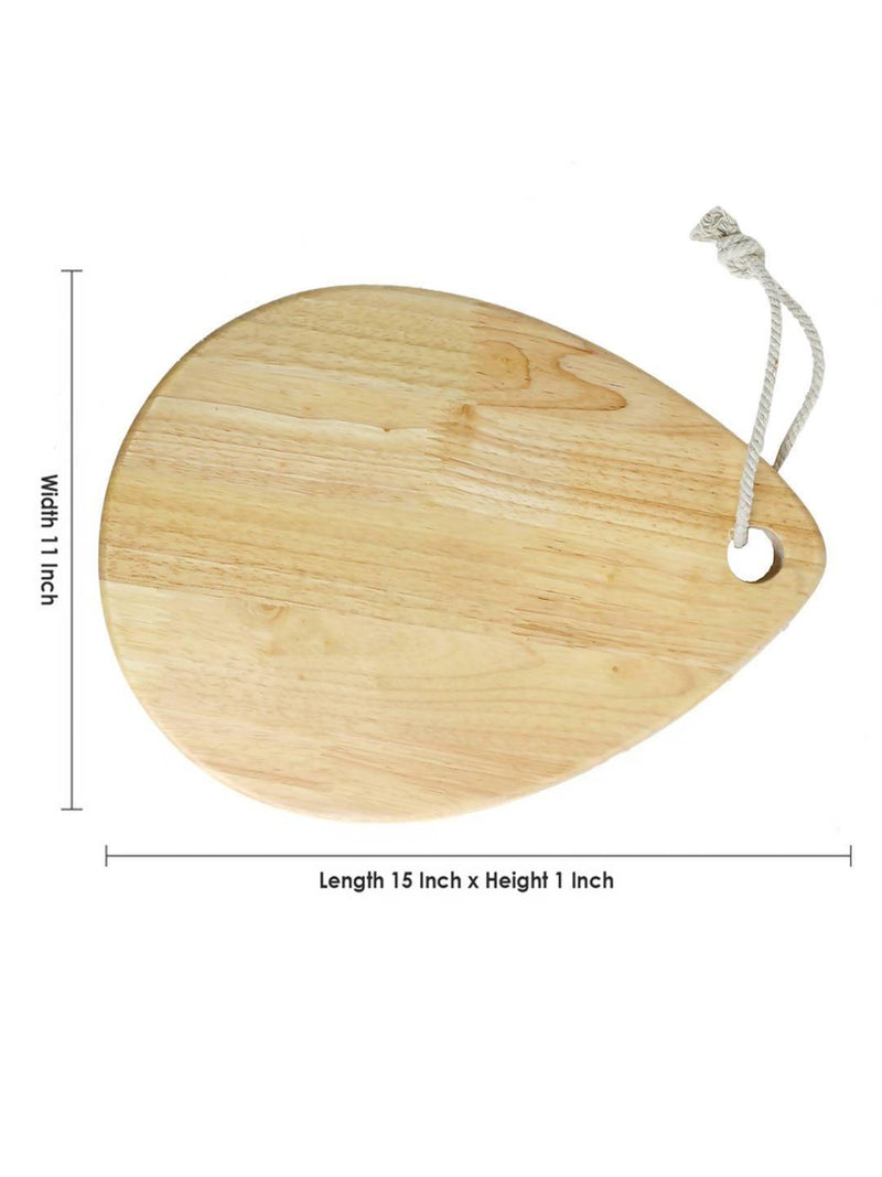 Pure Natural Wooden Oval Egg Shaped Chopping Board