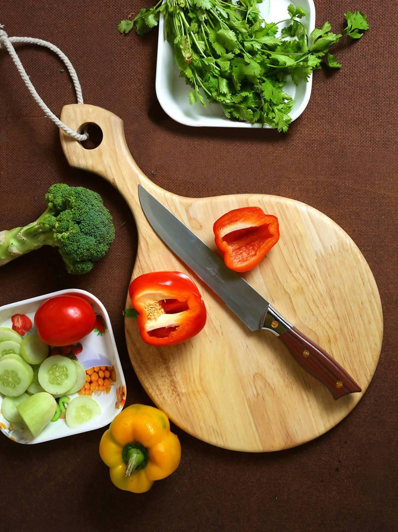 Pure Natural Wooden Circular Chopping Board