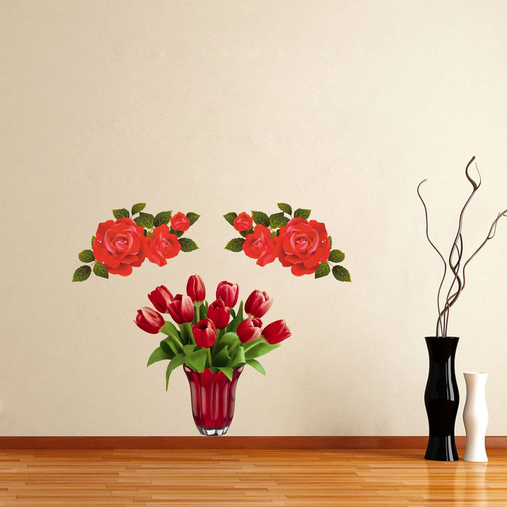 Beautiful Rose Multicolor Decorative Wall Sticker