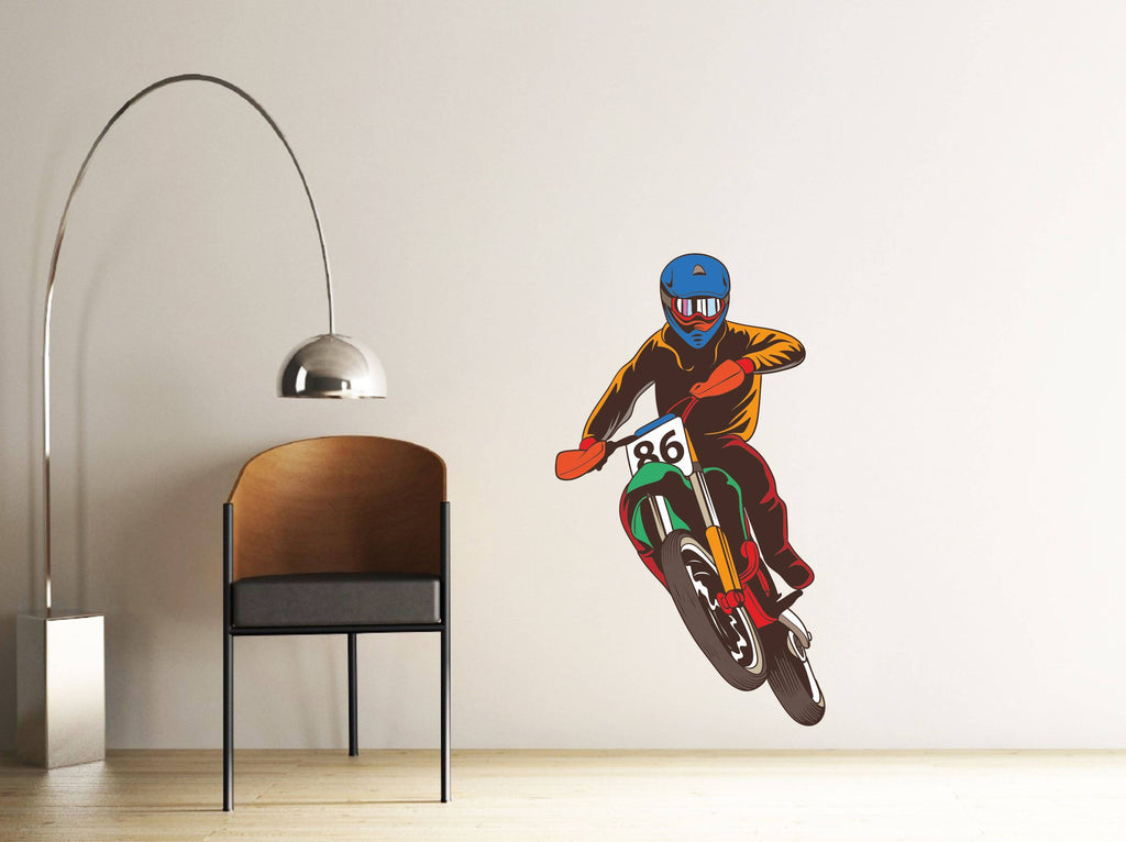 Bike Rider Wall Sticker