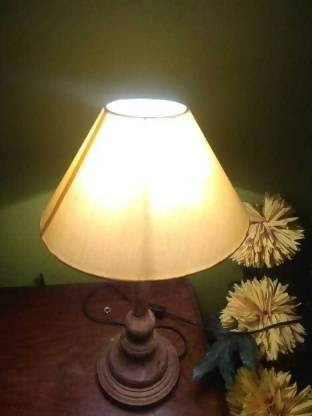 Yellow Shade Natural Table Lamp