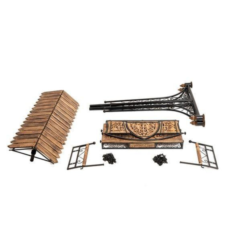 Solid Wood & Iron Garden,Balcony Swing, Hammock, Jhula, Cradle