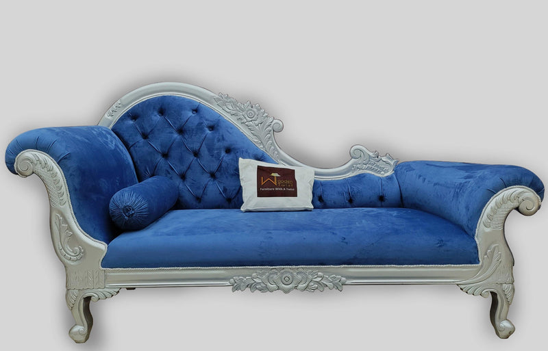 Wooden Lounge 3 Seater, Couch Chaise Deewan (Style5)