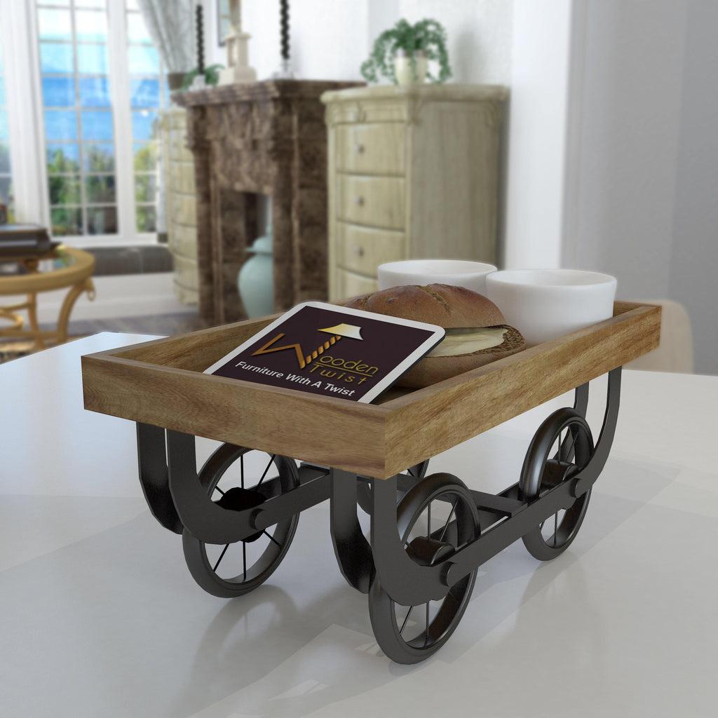 Premium Wooden Serving Cart - WoodenTwist