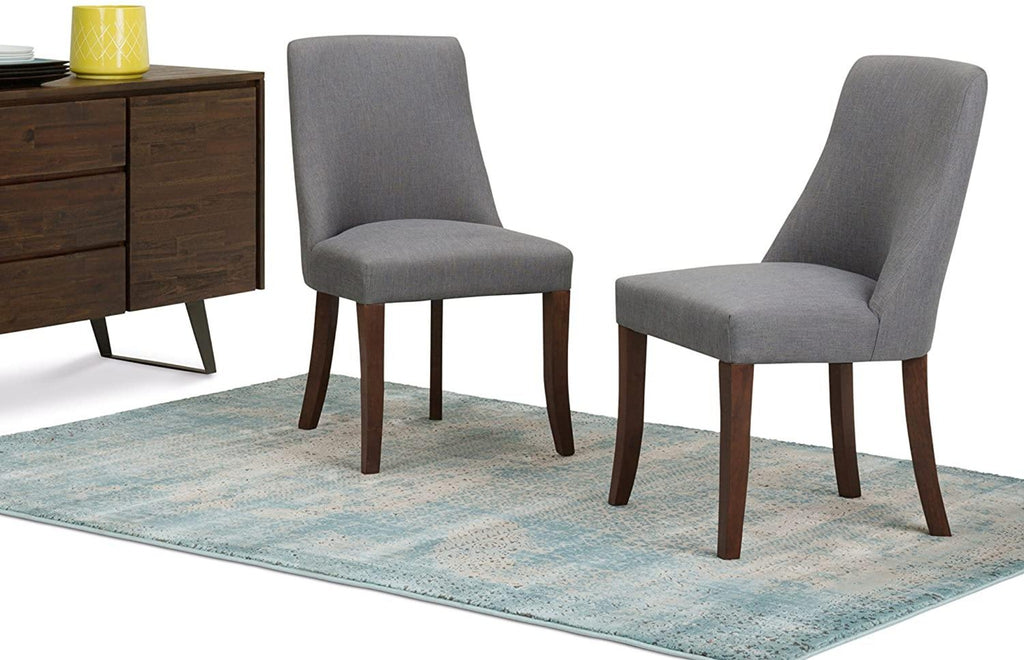 Teak wood Contemporary Dining Chairs (Set of 2)