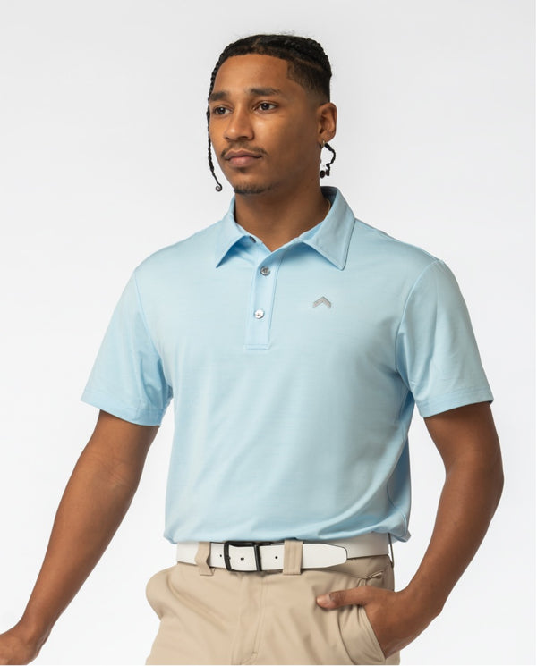 Sky Blue Golf Polo- Teeupstore