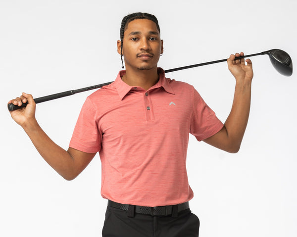The Tuscan Red Golf Polo - Teeupstore