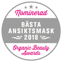 Nominert til Beste Ansiktsmaske – Organic Beauty Awards 2018
