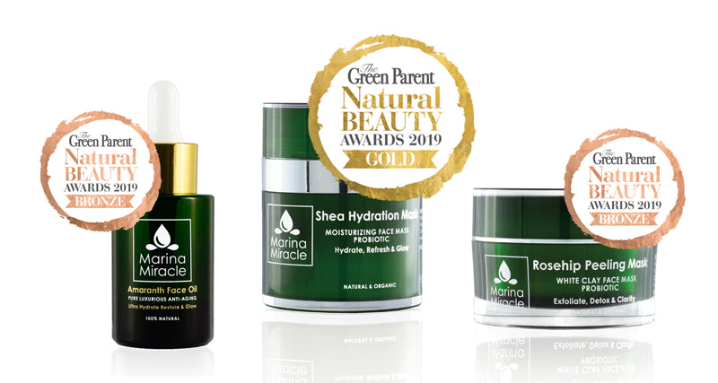 Green Parent Beauty Awards Marina Miracle winner gold and bronze