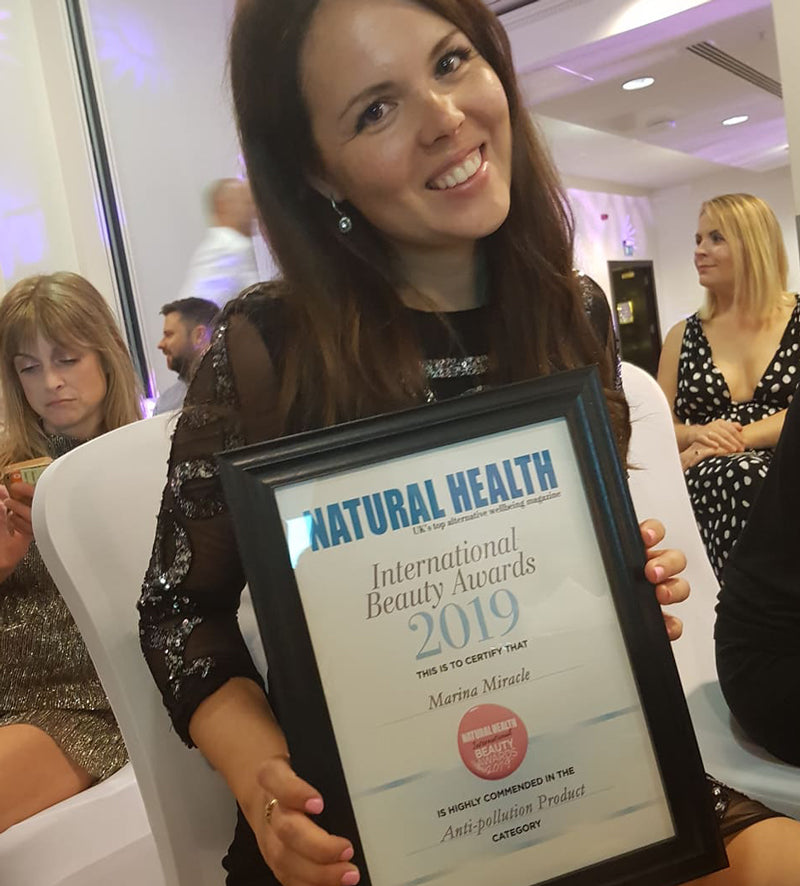 Marina Miracle Natural Health Awards winner