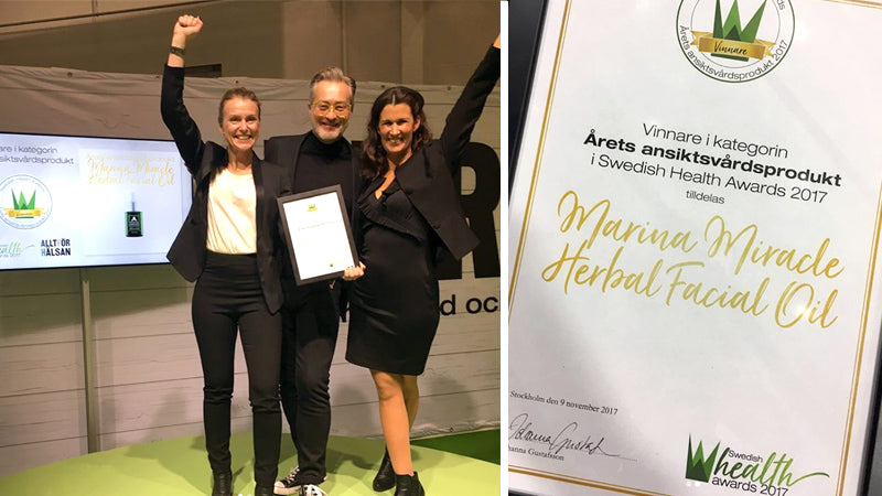 Marina Miracle er årets ansiktsprodukt i Swedish Health Awards