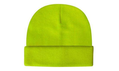 Headwear - Hi-Vis knitted acrylic beanie - 3028 - National Workwear Australia