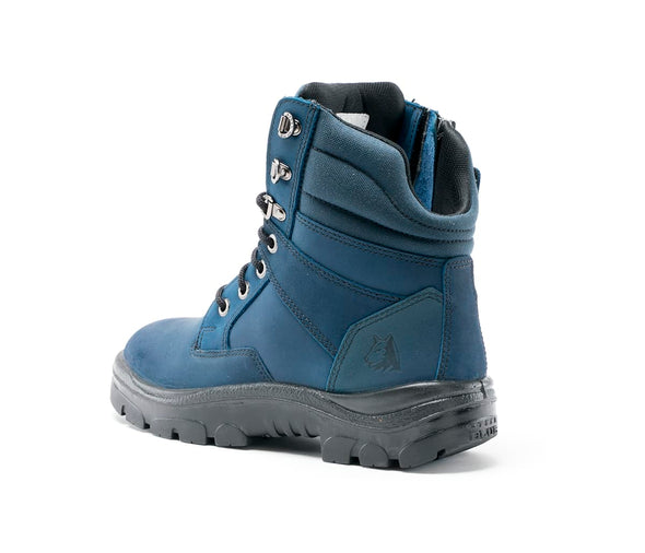 Steel Blue Boots - 312361 - Southern Cross Zip Blue