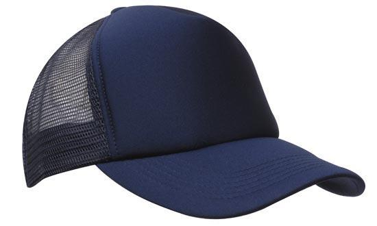 Headwear - 5 panel Nylon Mesh cap - 3803 - National Workwear Australia