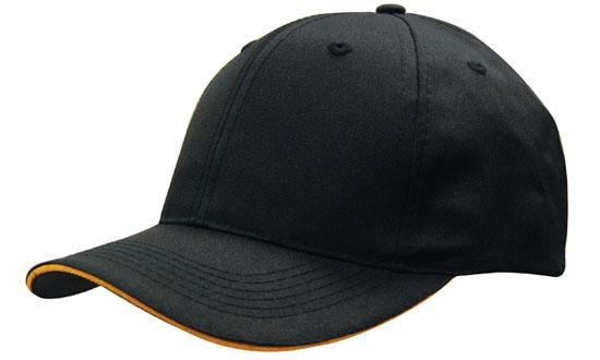 Headwear - 6PNL Breathable p/twill w/sandwich - 4009 - National Workwear Australia