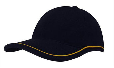 Headwear - 6PNL BHC w/Piping crown & peak - 4047 - National Workwear Australia