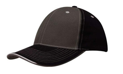 Headwear - 6PNL 2 tone with sandwich lip - 4053 - National Workwear Australia