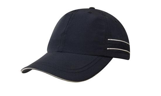 Headwear - Microfibre cap with piping & sandwich - 4077