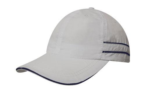 Headwear - Microfibre cap with piping & sandwich - 4077 - National Workwear Australia