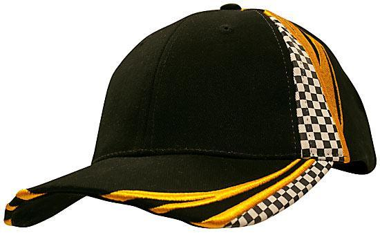 Headwear - 6PNL checks and embroidery - 4083 - National Workwear Australia