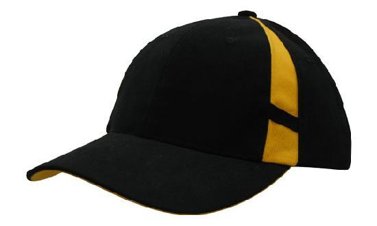 Headwear - 6PNL Cap with Crown inserts - 4096 - National Workwear Australia