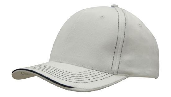 Headwear - 6PNL Cap with contrast Stitching & sandwich - 4097