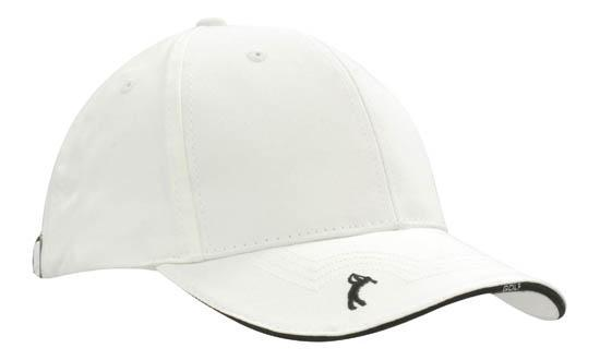 Headwear - 6Pnl Chino Twill Golf Cap - 4118 - National Workwear Australia