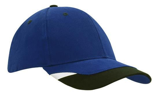 Headwear - 6Pnl BHC With Peak Indent & Print - 4125 - National Workwear Australia