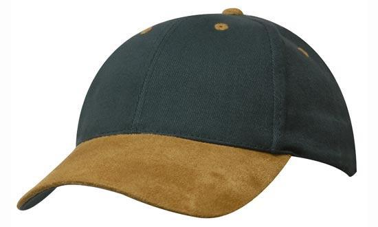 Headwear - Brushed Heavy Cotton w/suede peak - 4200