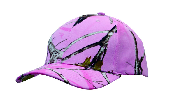 Headwear - 6Pnl True Timber Conceal Pink Camo Cap - 4201 - National Workwear Australia