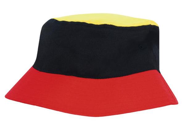 Headwear - Tri Color Breathable P/T Bucket Hat - 4220 - National Workwear Australia