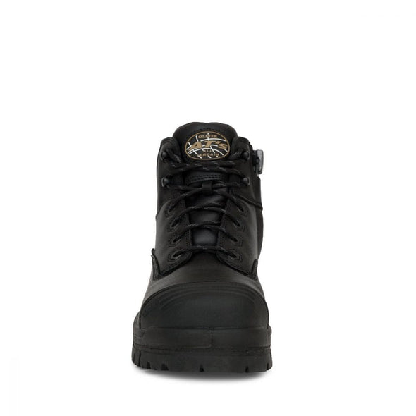 45-640Z Oliver Black Zip Sided Hiker Boot