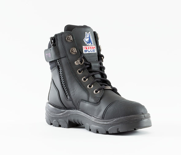 The Steel Blue Boots Southern Cross Zip Scuff Ladies Boot at National Workwear Gold Coast Australia.
