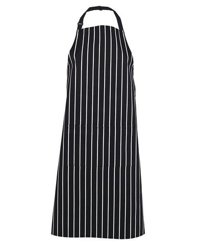 JB's Wear 5BS Bib Striped Apron with Pocket