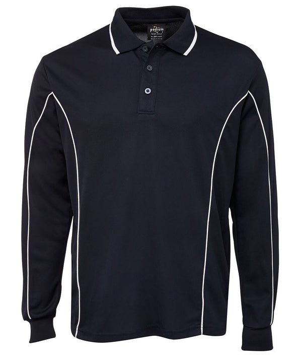 L/S Piping Polo 7PIPL - National Workwear Australia