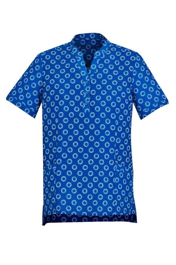 Biz Care - Women's Easy Stretch Daisy Print Tunic - CS950LS