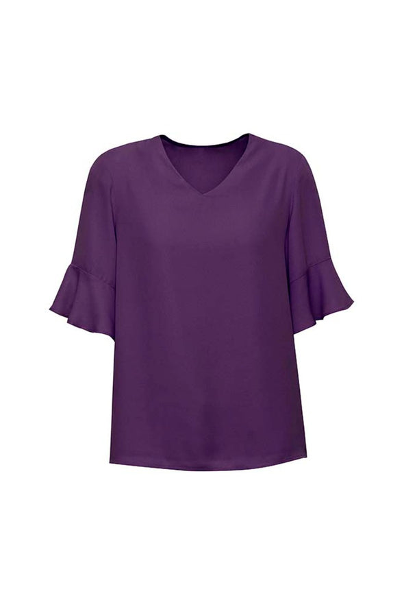 Biz Corporates - RB966LS - Womens Aria Fluted Sleeve Blouse