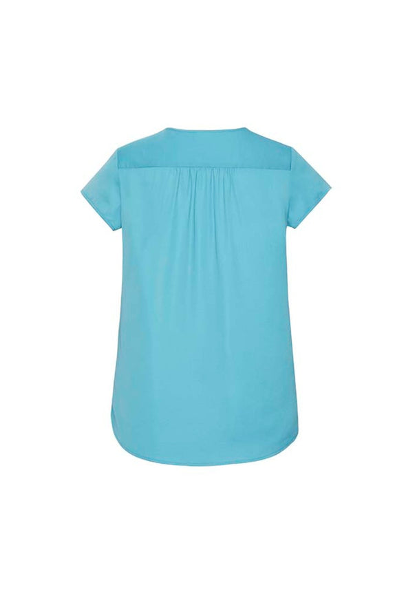 Biz Corporates - RB967LS - Womens Kayla V-neck Pleat Blouse