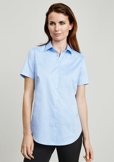 Biz Collection S016LS Ladies Camden S/S Shirt at National Workwear Gold Coast Australia