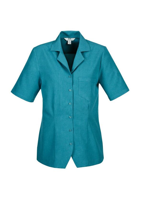 Biz Care - Ladies Plain Oasis Over blouse - S265LS - National Workwear Australia