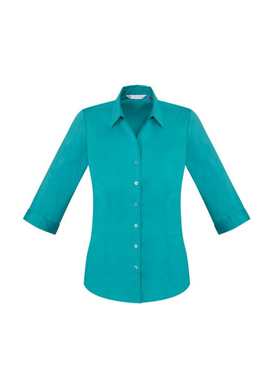 Biz Care - Ladies Monaco 3/4 Sleeve Shirt - S770LT - National Workwear Australia