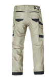 The FXD Workwear WP-5 Lightweight Work Pant, colour khaki, photographed from the back.