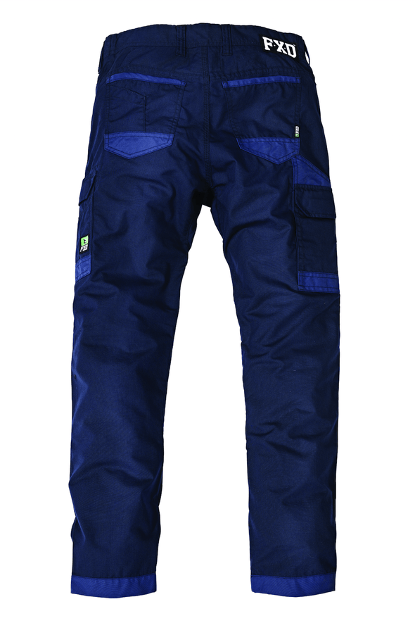 The FXD Workwear WP-5 Lightweight Work Pant, colour navy, photographed from the back.